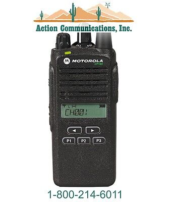 New Motorola Cp185 Uhf 435-480 Mhz 4 Watt 16 Channel Display Two Way Radio