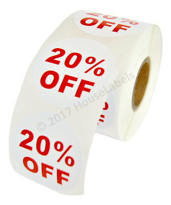 2 Rolls Of 20 Off Discount Labels 500 Labelsroll 2.5 Diameter Bpa Free