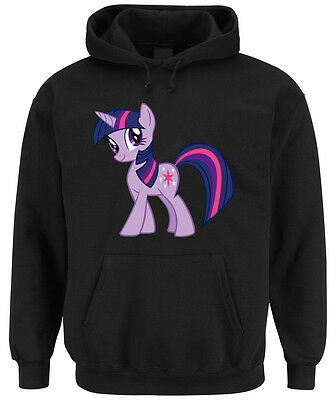 Twilight Pony Hoodie Black  My Little Rarity Dash Rainbow Einhorn Pie Pinkie
