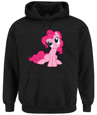 Pinkie Pony Hoodie Black  My Little Pie Rarity Dash Rainbow Unicorn Einhorn