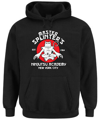 Master Splinter Hoodie Black schildkröte, turtle, ratte, sport, ninja,