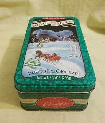 VINTAGE HALLMARK CROWN VINTAGE JINGLE BELLS CHOCOLATE CHRISTMAS CANDY TIN 1993
