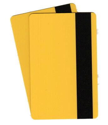 Zebra Plastikkarte Drucker (5 Magnetkarten gelb, LOCO, Plastikkarten, Ausweise, Kartendrucker, PVC, Zebra)