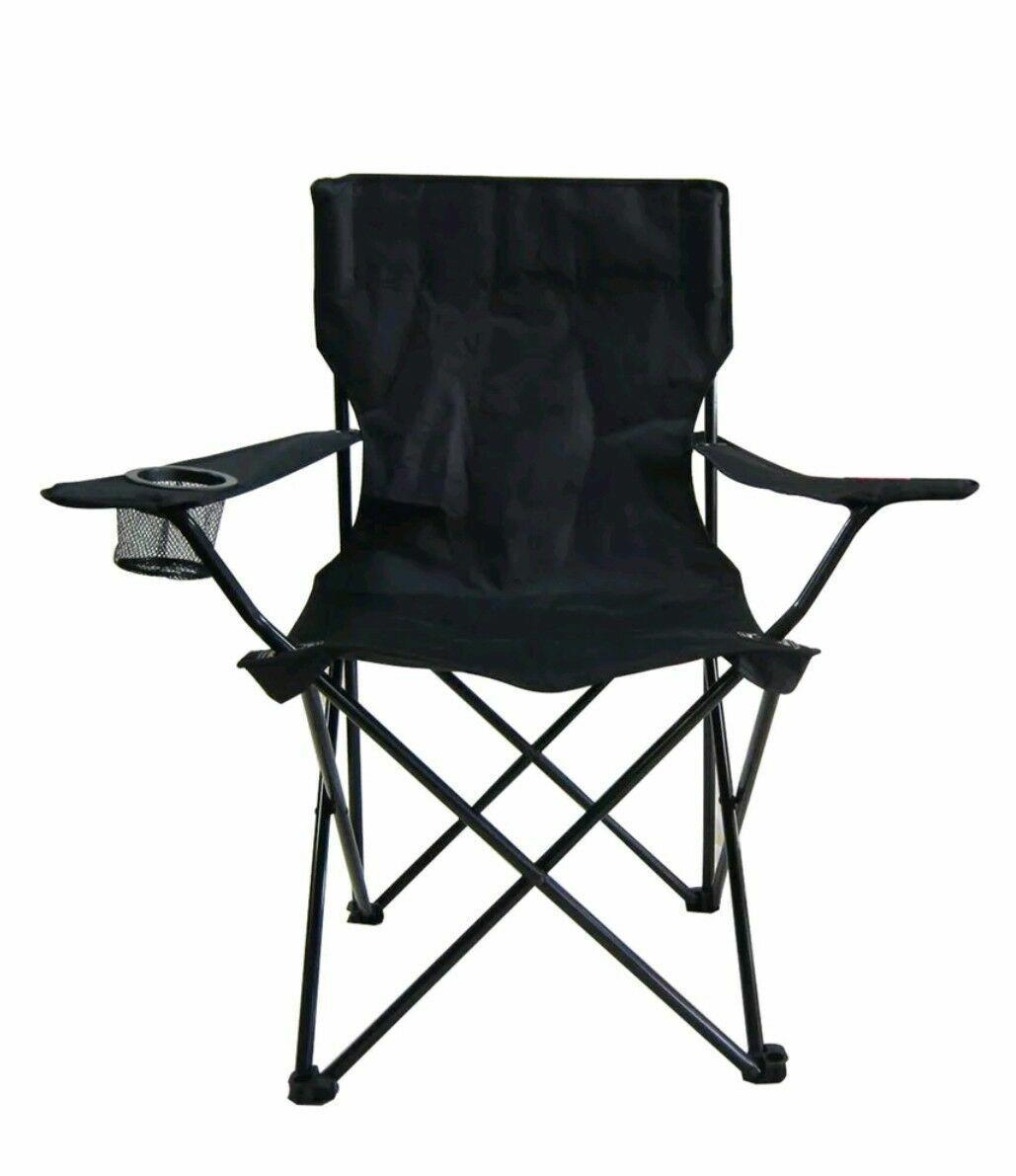 Admirable Garden Treasures Hpc86177 2D Camping Chair Black Cjindustries Chair Design For Home Cjindustriesco