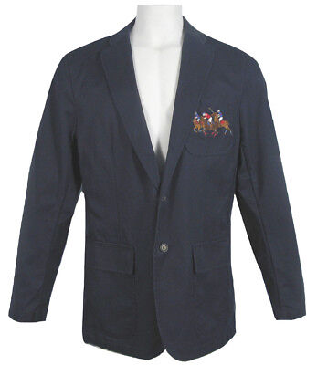 NEW VINTAGE Polo Ralph Lauren Sportcoat (Jacket)!  M  Navy with Match Players