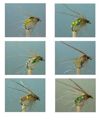 12 Artflies Bead Body Caddis Pupa Flies, ~ Choose Patterns, and Sizes ~