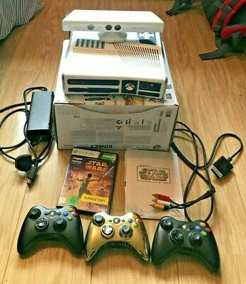 Xbox 360 Kinect Star Wars Bundle 320GB Console & 2 working controllers