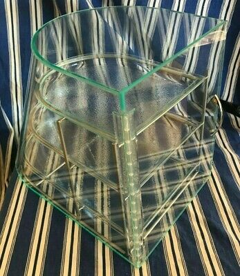 Cal Mil Elite Acrylic Green Tinted 3 Tier Display In Great Condition 1505-3