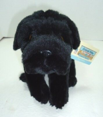 Black Pug Stuffed Animal (Animal Alley Black Pug Plush Dog NWT Carlin Toys R Us)