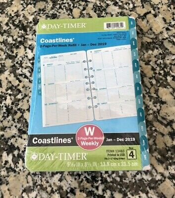 New Day-timer Coastlines 2020 Weeklymonthly Planner 8.5x5.5 Refill Size 4