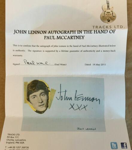 THE BEATLES / JOHN LENNON GENUINE HAND-SIGNED BY PAUL MCCARTNEY!