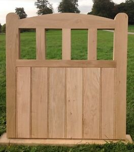 Handcrafted Arched Top Solid European Oak Garden Gate 1050mm X 1050mm