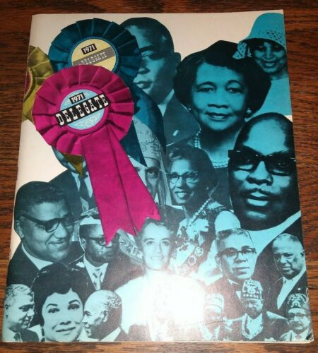 1971 Delegate Magazine 100+ Photos Black Professional Business Civic Groups etc