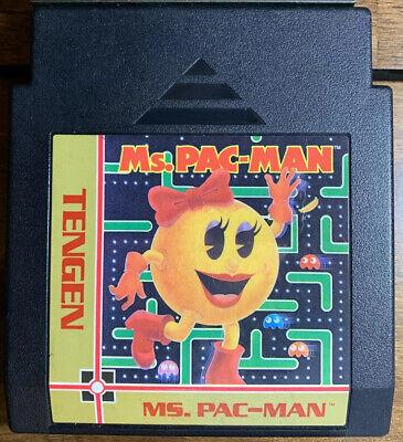 Ms. Pac-Man 1990 Nintendo NES Cleaned Tested Rare Pacman Tengen Unlicensed Black