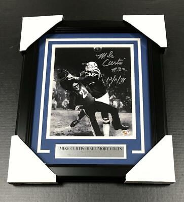 MIKE CURTIS BALTIMORE COLTS HITS AUTOGRAPHED SIGNED 8x10 FRAMED PHOTO BCO COA Signed Baltimore Colts