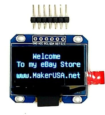 Hq 1.3 12864 Oled Graphic Display Module Spi Lcd - Blue