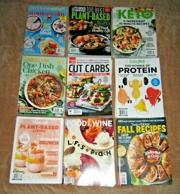 9 Food COOKING Recipes MAGAZINEs 2021 BRAND NEW Free USA Shipping