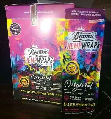 Beamer Ultra Premium Herbal Hemp Blunt Wraps Original King 25/4ct Packs 100pc