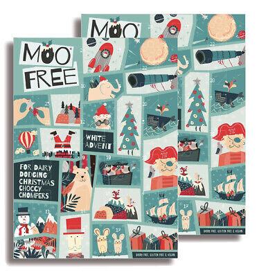 MOO Free - Dairy Free & Vegan Advent Calendar - White Chocolate 70g (Pack of 2)