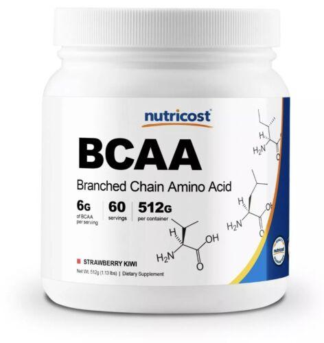 Nutricost BCAA Powder- 2:1:1 (Strawberry Kiwi) 60 Servings