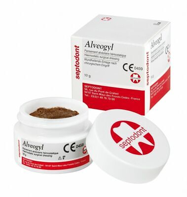 Alvogyl Septodont Alveogyl Paste 10gm Dry Socket Treatment Dental Material Fba