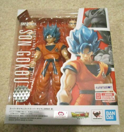 NEW Authentic Tamashii SH Figuarts Dragon Ball Super Saiyan God Blue SSGSS Goku