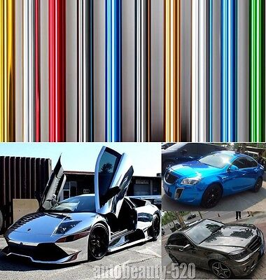 Best Wrap - Hot Entire Car Auto Glossy Mirror Chrome Vinyl Film Decal Sticker (Best Car Vinyl Stickers)
