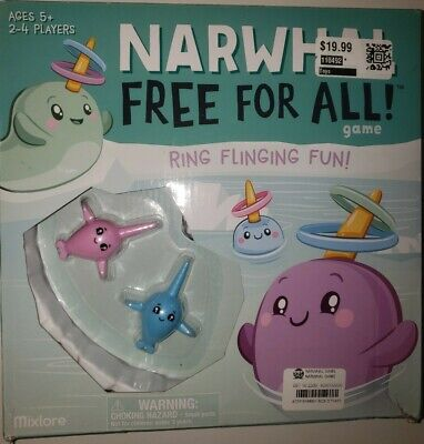 Narwhal Free for All Game Board Game Toy New in Box Ring Flinging Fun