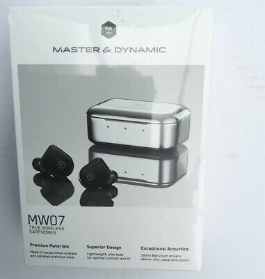Master and Dynamic MW07 True Wireless Headphones - Piano Black...