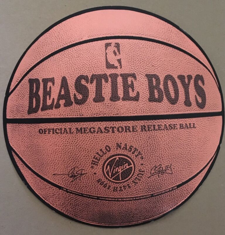 BEASTIE BOYS POSTER CHUCK SPERRY 1998 BASKETBALL VIRGIN Rap Hip Hop Screen Print