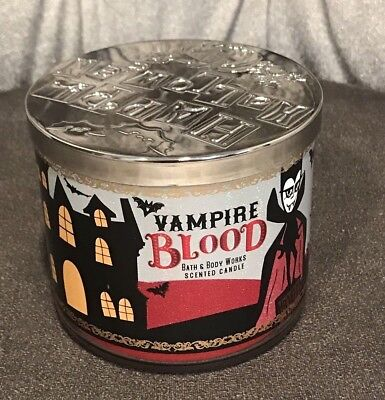 Bath and Body Works Halloween Vampire Blood 3 Wick Scented Candle 14.5 Oz New  - Halloween Candles Bath And Body Works