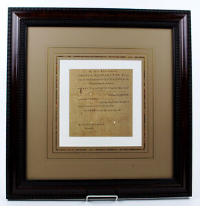 Official Document Signed by President George Washington JSA Historical