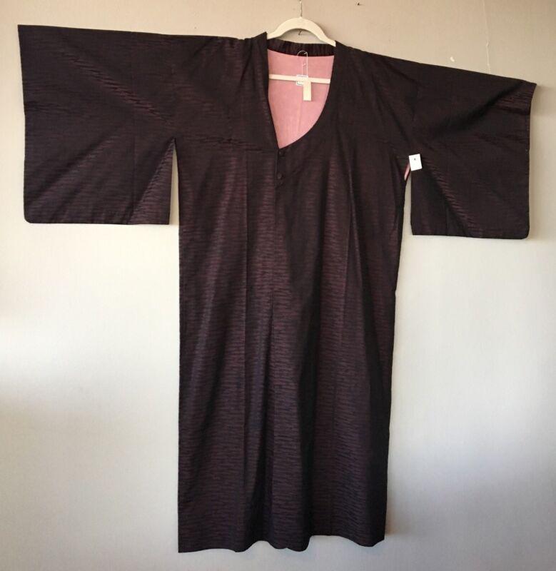 Vintage Japanese Silk Long Kimono Beautiful Pattern