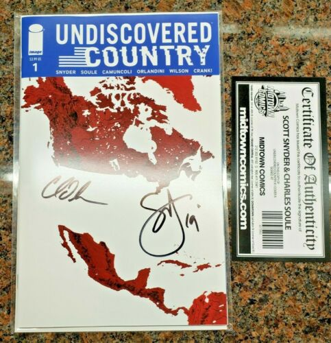 Undiscovered Country #1 Comic SIGNED Scott Snyder and Charles Soule Image Comics