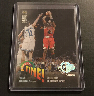 Michael Jordan 1995 Upper Deck Platinum Players Club SP Parallel Bulls RARE