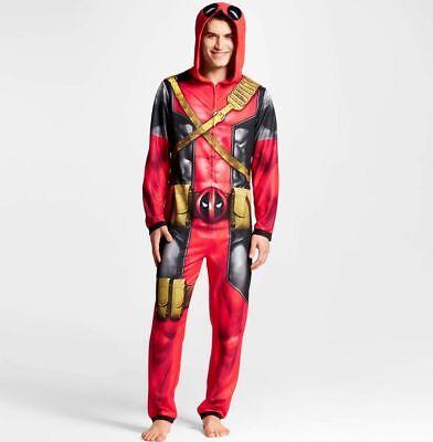Dead Pool Suit (Marvel DEAD POOL Union Suit Men Adult Medium Costume)
