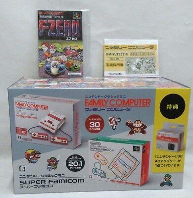 Nuovo Nintendo Mini Classic Pacco Doppio Gioco Console Super Famicom