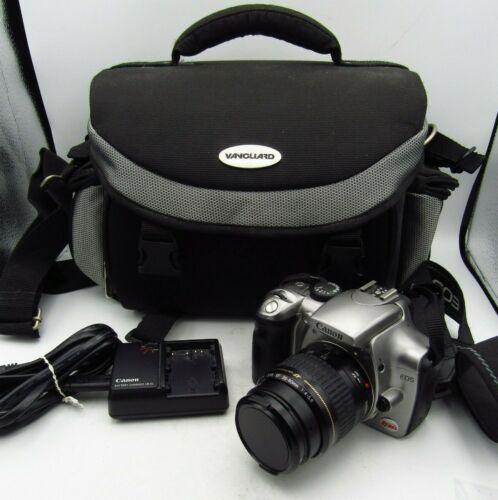 CANON EOS DIGITAL REBEL CAMERA w/ EF 35-80mm ZOOM LENS, CHARGER & BAG