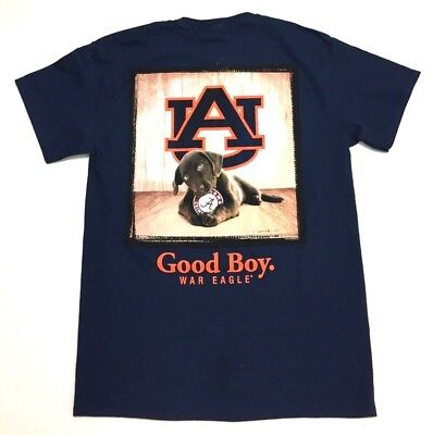 Auburn Tigers T-Shirt - Dog Good Boy- Man's Best Friend - Adult Tee Navy -