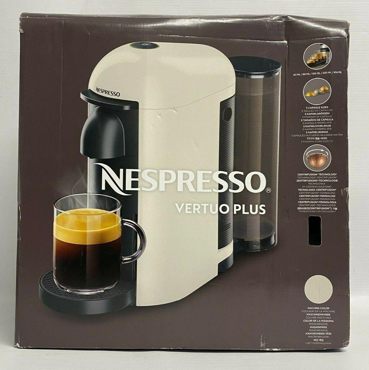 NESPRESSO Vertuo Plus GCB2 Macchina da Caffè / Maker - Bianco - con Scatola