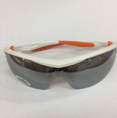 Stihl White Sport Sun & Safety Glasses w/ Silver Mirror Lens 7010 884 0368 NEW