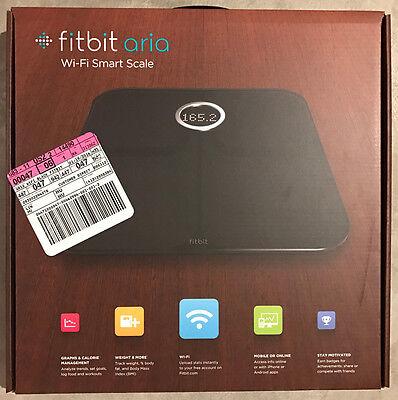 Fitbit Aria Wi-Fi Smart Bathroom Scale Black FB201B