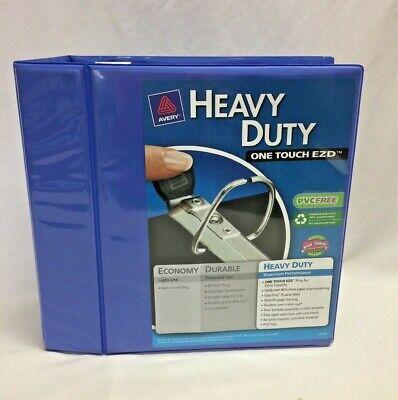 Avery Heavy-duty Binder W5 Locking One-touch Ezd Rings 8.5 X 11 Blue O1