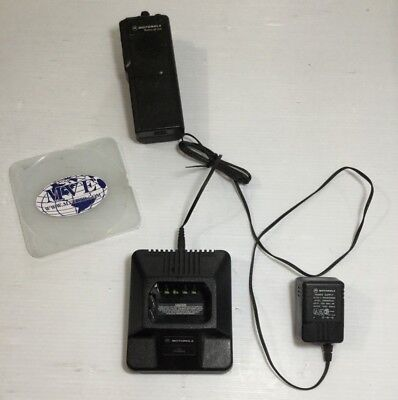 MOTOROLA RADIUS GP 300 HTN9702A 2580955Z02 2 WAY RADIO W CHARGER & POWER SUPPLY. Buy it now for 49.99