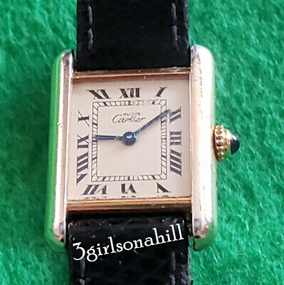 Vintage Must de Cartier Tank Gold Vermeil Quartz Movement
