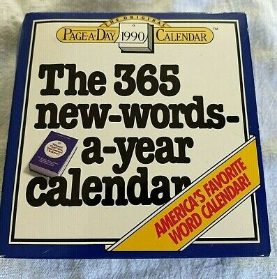 1990 The 365 New Words A Year Daily Desk Calendar for sale  Whitehall