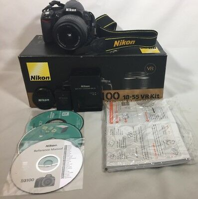Nikon D3100 14.2MP Digital SLR Camera - Black (Kit w/ AF-S DX VR 18-55mm Lens) for sale  Shipping to Canada