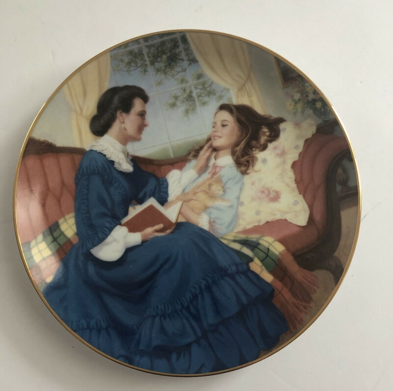 Marmee and Beth Elaine Gignilliat Little Women Danbury Mint Collector Plate 1990