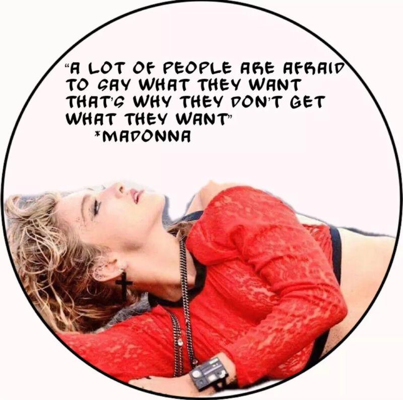 Madonna pinback button
