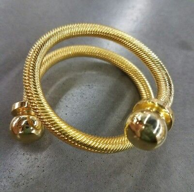 Vintage Retro Gold Spiral Cable Napkin Rings set of 8